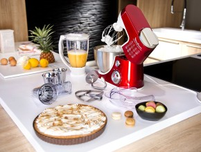 Moulinex QA403G01 Robot Pâtissier Multifonctions Masterchef Gourmet Rouge